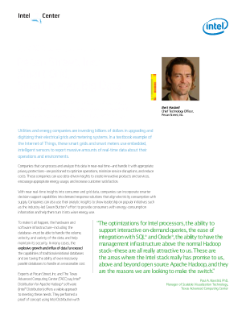 Intel ESS Pecan Street IT Manager Case Study