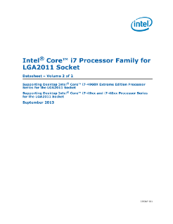 Intel® Core™ i7 Processor for LGA2011 Socket: Datasheet, Vol. 2