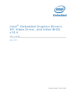 Intel® Embedded Graphics Drivers, EFI Video Driver: User Guide