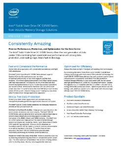 Intel® Solid-State Drive DC S3500 Product Brief