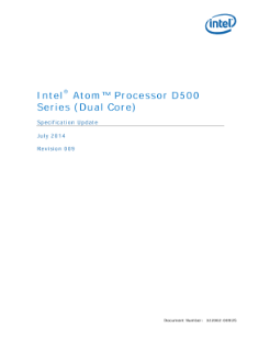 Intel® Atom™ Processor D500 Series (Dual Core) Specification Update,