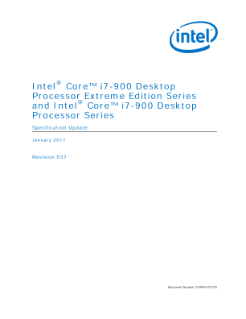 Intel® Core™ i7 Processor Extreme Edition Series and Intel® Core™ i7 Processor Specification Update