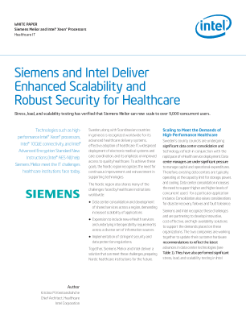 Siemens and Intel Deliver Enhanced Scalability and Robust Security for Healthcare